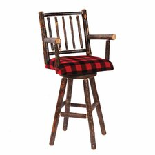 "Hickory 24"" Swivel Bar Stool"
