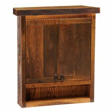 "<strong>Fireside Lodge</strong> Barnwood 32"" x 36"" Wall Mounted Cabinet"