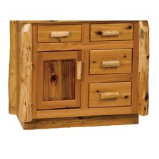 "<strong>Fireside Lodge</strong> Traditional Cedar Log 36"" Bathroom Vanity Base"
