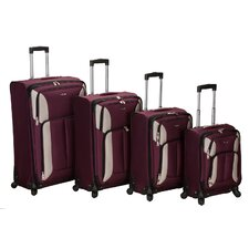 <strong>Rockland</strong> Impact 4 Piece Spinner Luggage Set