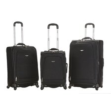 <strong>Rockland</strong> Fusion 3 Piece Monte Carlo Spinner Luggage Set