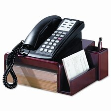 <strong>Rubbermaid</strong> Rolodex Wood Tones Phone Center Desk Stand, 12 1/8 X 10