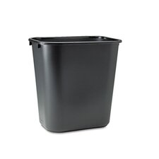 <strong>Rubbermaid</strong> Commercial Deskside Plastic Wastebasket, Rectangular, 7 Gal