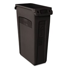 <strong>Rubbermaid</strong> Commercial Slim Jim® 23-Gal. Rectangular Wastebasket with Venting Channel