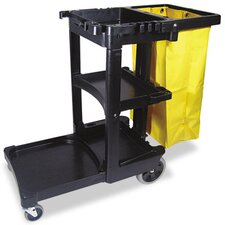 <strong>Rubbermaid</strong> Commercial Multi-Shelf Cleaning Cart