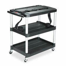 Rubbermaid® Media Master™ 3-Shelf Audio-Visual Commercial AV Cart