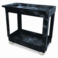 "Commercial Service/Utility Cart, 2-Shelf, 16"" Wide"
