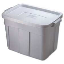 <strong>Rubbermaid</strong> 18 Gallon Roughneck Storage Box in Steel Gray