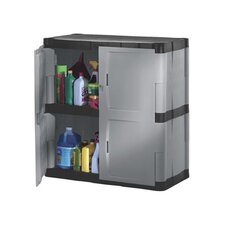 <strong>Rubbermaid</strong> Double-Door Storage Cabinet - Base in Gray / Black