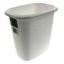 6 Quart White Vanity Wastebasket