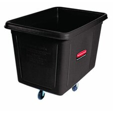 <strong>Rubbermaid</strong> Metal Frame Cube Truck, 12 cu ft, Polyethylene, 400lb Capacity, Black