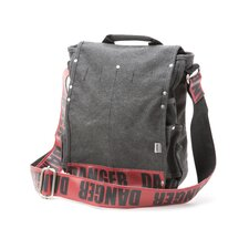 Danger Utility Messenger Bag in Red