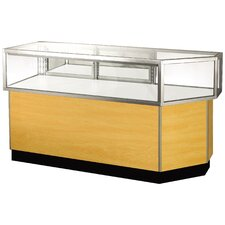 "Streamline 38"" x 56"" Jewelry Vision Corner Combination Showcase with Mirror Back"