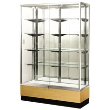 "<strong>Sturdy Store Displays</strong> Streamline 70"" x 15"" Trophy Case with Mirror Back"