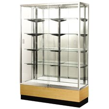 "<strong>Sturdy Store Displays</strong> Streamline 70"" x 18"" Trophy Case with Panel Back"