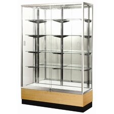 "<strong>Sturdy Store Displays</strong> Streamline 60"" x 18"" Trophy Case with Glass Back"