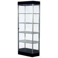 Freedom Elongated Hexagonal Tower Display Cabinet
