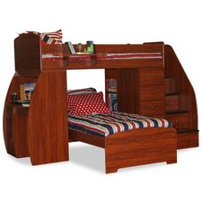 Sierra Twin Space Saver L-Shaped Bunk Bed with Desk and Stairs