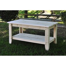 <strong>Shine Company Inc.</strong> Rectangular Cedar Chat Table