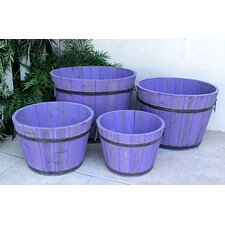 Round Tall Cedar Barrel (Set of 4 )