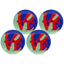 "Robert Indiana ""Love"" 8"" Dessert / Salad Plate"