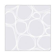 <strong>Modern-Twist</strong> Coaster Notz Pebbles in White on Clear Base (Set of 4)