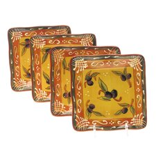 "French Olives 6"" Canape Plate (Set of 4)"
