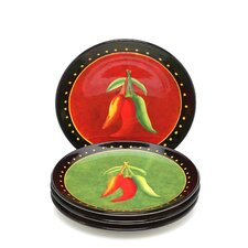 "Caliente by Joy Hall 8.75"" Salad Plate (Set of 4)"
