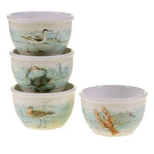 "Beach Cottage 5.5"" Ice Cream Bowl (Set of 4)"