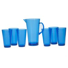 Acrylic Hammered Glass Drinkware Set