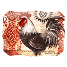 "Fancy Rooster 16"" Rectangular Platter"