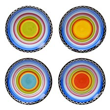 "Tequila Sunrise 6"" Canape Plate (Set of 4)"