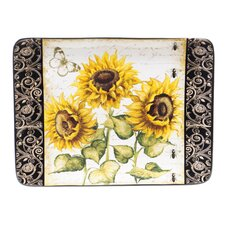 "French Sunflowers 16"" Rectangular Platter"