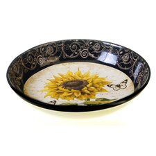 "French Sunflowers 13.25"" Serving Pasta Bowl"