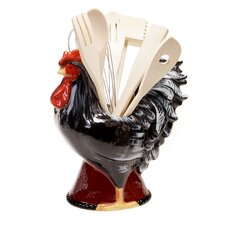 Fancy Rooster 8 Piece 3-D Tool Utensils Set