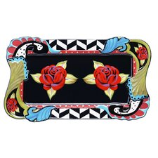 "Classic Rose 16"" Rectangular Platter"