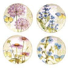 "Herb Garden 11"" Dinner Plates (Set of 4)"