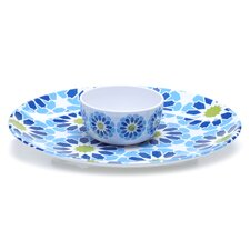 Mediterranean 2 Piece Round Chip and Dip Set