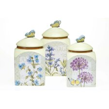 Herb Garden 3 Piece Canister Set