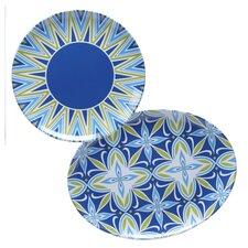 Mediterranean 2 Piece Platter Set