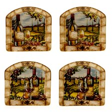 "Tuscan View 6"" Canape Plate (Set of 4)"