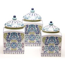 Mood Indigo 3 Piece Canister Set