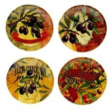 "Olio Di Oliva 6"" Canape Plates (Set of 4)"
