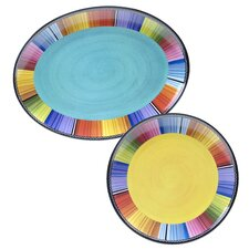 Serape 2 Piece Platter Set