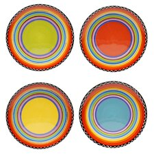 "Tequila Sunrise 9"" Salad Plate (Set of 4)"