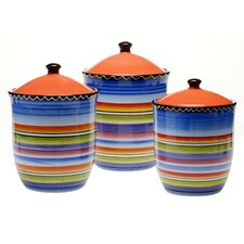Tequila Sunrise 3 Piece Canister Set
