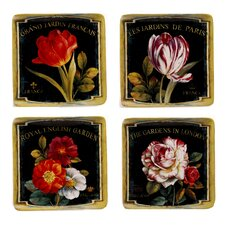 "Garden View 8.25"" Dessert Plates (Set of 4)"