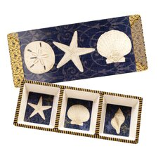 Coastal Moonlight 2 Piece Appetizer Set