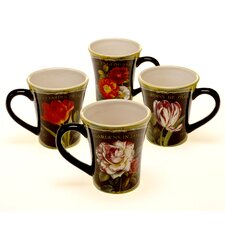 Garden View 13 oz. Mug Set (Set of 4)