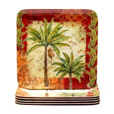 "Sunset Palm 10.5"" Dinner Plate (Set of 6)"